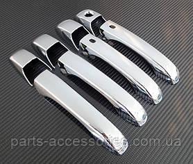 Хромовые накладки на дверные ручки Jeep Grand Cherokee 2011-16 новые