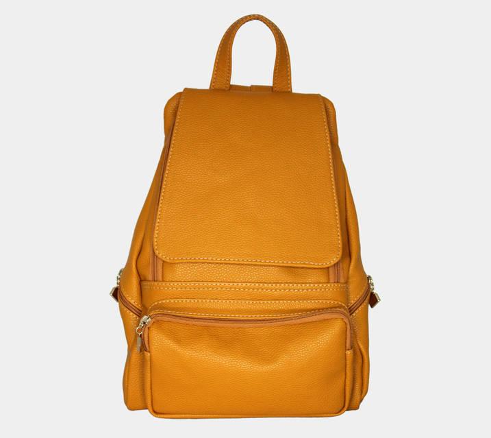 Жіноча сумка-рюкзак оранжева