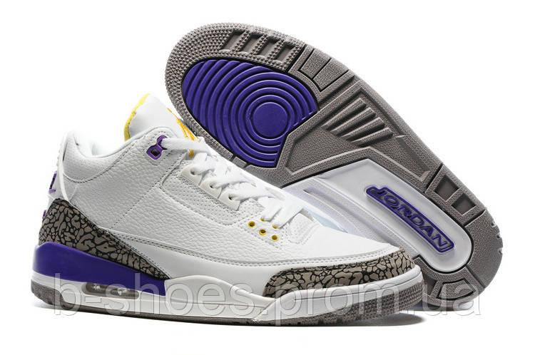 Мужские кроссовки Air Jordan Retro 3 Lakers