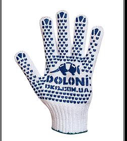 Перчатки DOLONI з 2-х стор.Точк. Выбелен. 7 клас(580)
