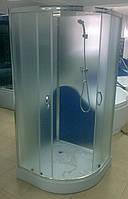 Душевая кабина SANTEH 8510L(100*100*194) с задней стенкой  под.14см хром/фабрик