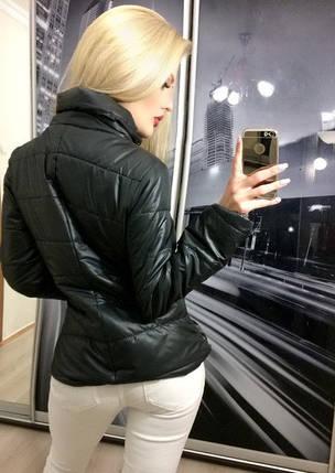 Куртка женская короткая, черная, фото 2