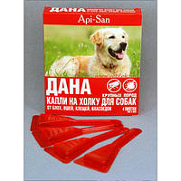 ДАНА КАПЛИ на холку от блох для собак крупных пород поштучно