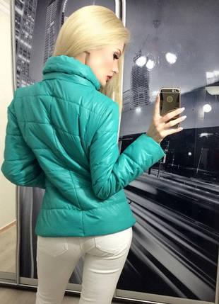 Куртка женская короткая ft-239 зелёная, фото 2