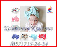 Детские повязки на голову с большим бантом под заказ (от 50 шт)