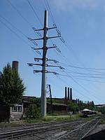 Стальная коническая опора (СКО, МГС) - 4 цепи: ВЛ-150кВ + ВЛ-35кВ.