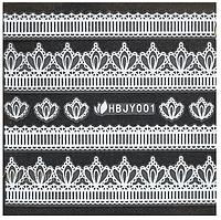 Наклейки 3D для ногтей HBJY 001