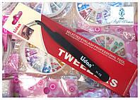 Пинцет Lidan для наращивания ресниц наклонные , фото 1