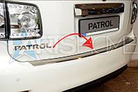 Накладка на задний бампер Nissan Patrol с 2010 г.в.