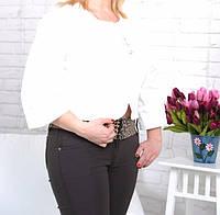 Пиджак-болеро женский коттоновый белый