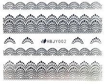 Наклейки 3D для ногтей HBJY 002 серебро