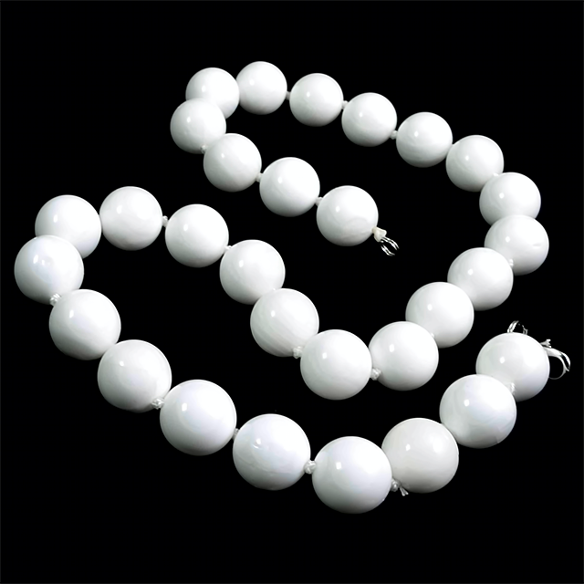 Перламутр белый, Ø14, бусы, 135БСК