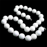 Перламутр белый, Ø14, бусы, 135БСК, фото 1