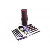 Кисти Набор кистей в тубусе 12 штук Фиолетовые