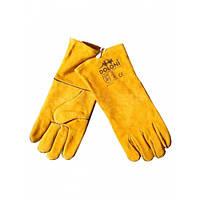 Перчатки DOLONI краги сварочные с подкладкой желтые Y1401 CBF (4507)
