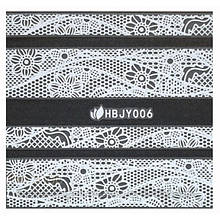 Наклейки 3D для ногтей HBJY 006 белые