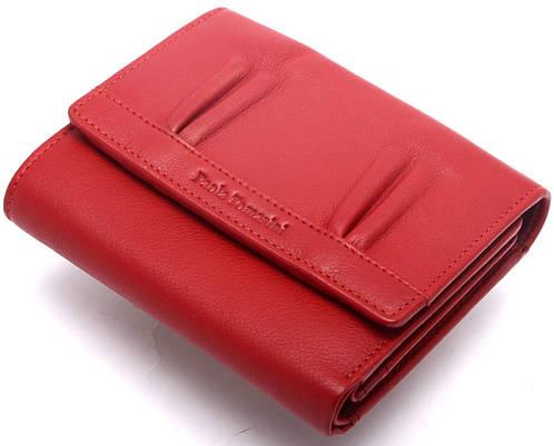 Деловой женский  кожаный кошелек Paola Tomasini  31693/5 красный