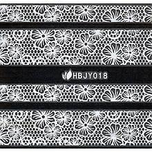 Наклейки 3D для ногтей HBJY 018 серебро