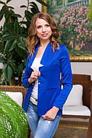 Пиджак приталенный на одну пуговицу в расцветках