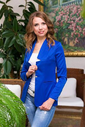 Пиджак приталенный на одну пуговицу в расцветках, фото 2