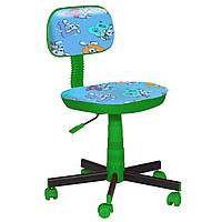 Кресло детское Киндер Зайцы голубой пластик зеленый (AMF-ТМ)