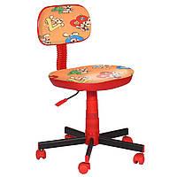 Кресло детское Киндер Зайцы оранжевый пластик красный (AMF-ТМ)