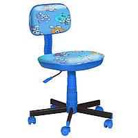 Кресло детское Киндер Зайцы голубой пластик синий (AMF-ТМ)