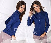 Женская коттоновая блуза в горох