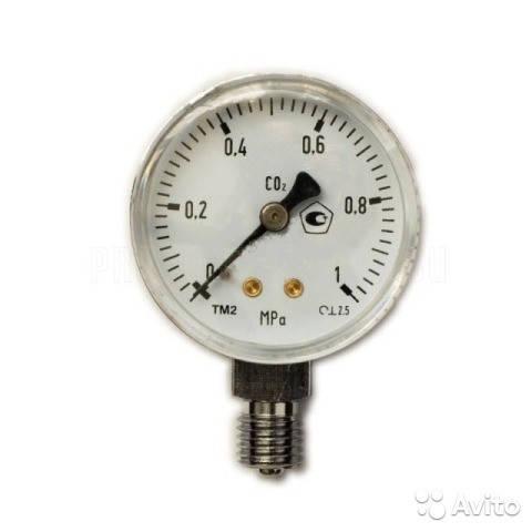 Манометр 0- 1,0 МПа СО2 (углекислый газ)