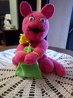 Мягкая игрушка-сувенир. Ручная работа.Манэки-нэко (Денежный кот)