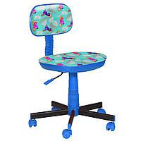 Кресло детское Киндер Пони - бирюзовый пластик синий (AMF-ТМ)