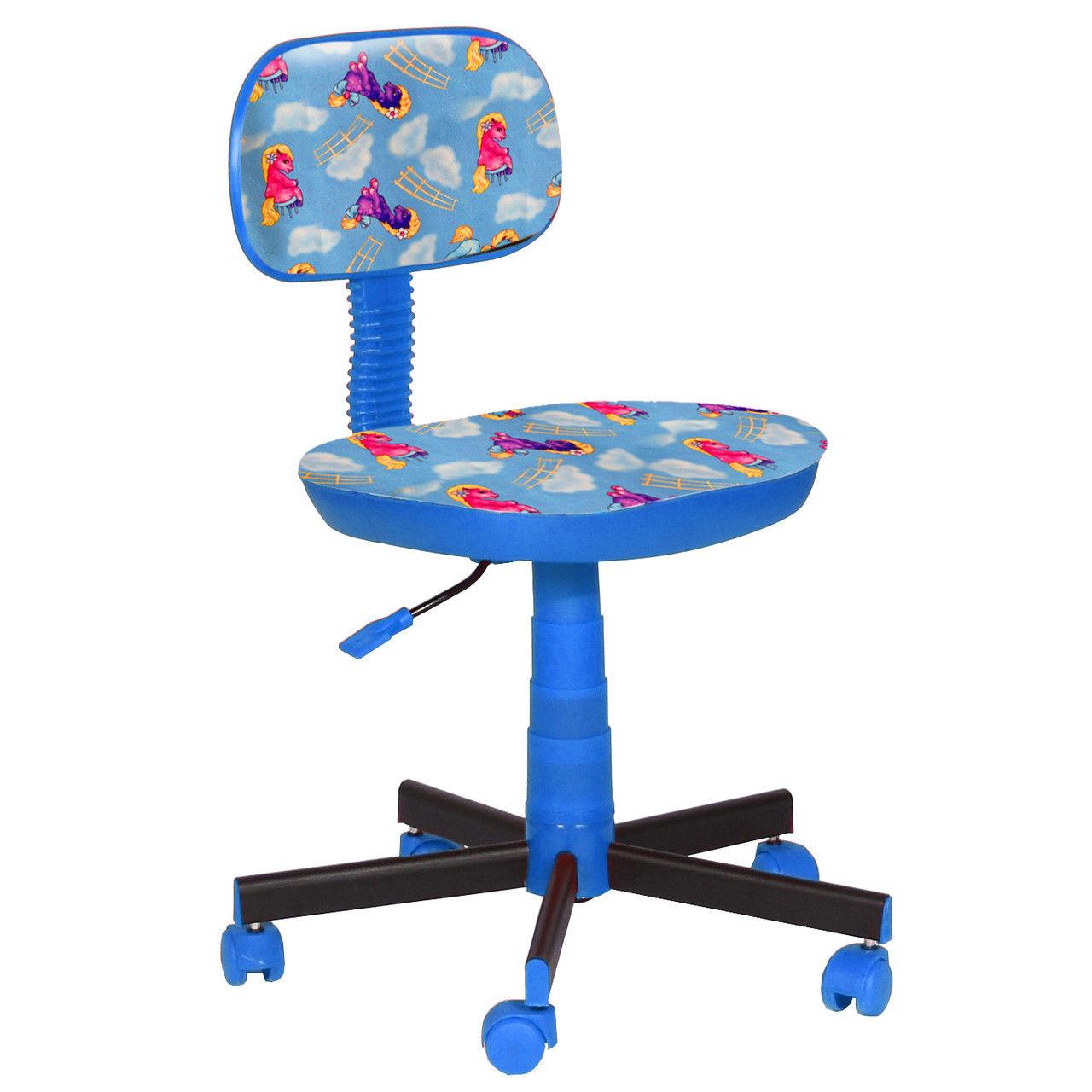 Крісло дитяче Кіндер Поні - блакитний пластик синій (AMF-ТМ)