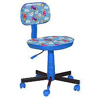 Кресло детское Киндер Пони - голубой пластик синий (AMF-ТМ)