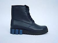 Женские весенние ботинки синего цвета