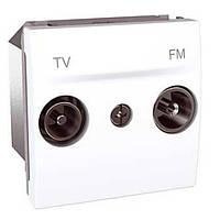 Розетка ТВ Радио конечная 2М бел. Unica MGU3.452.18 Schneider Electric