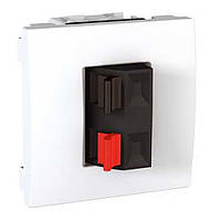 Розетка аудио 2М бел. Unica MGU3.486.18 Schneider Electric