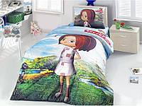 Комплект постельного белья ранфорс Altinbasak (Турция) 1,5 Сп. 160х220 Canan 1001166