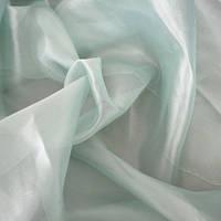 Тюль Микровуаль Семия мята, однотонная + высококачественный пошив