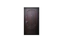Дверь входная Классика квартира с притвором 860*2050 мм.Эконом,Тёмный орех.
