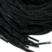 Шнурок 5 мм круглый черный 100 см