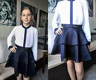 Школьная юбка-солнце для девочки мод.004