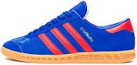 Мужские кроссовки Adidas Originals Hamburg Blue/Red, адидас