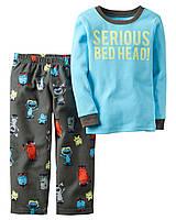 Пижама для мальчика с флисовыми штанами Carters