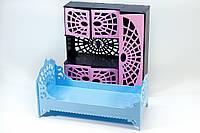 """Набор мебели цветной для кукол, кровать+шкаф серия """"Монстер Хай"""" , фото 1"""