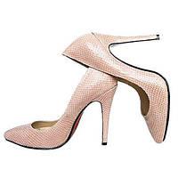 Туфли женские на каблуке и тан...