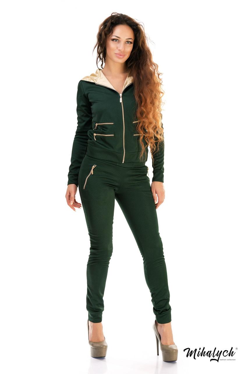 Классический женский спорт костюм с молниями