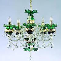 Люстра хрустальная ArtGlass ESMERALDA V. green
