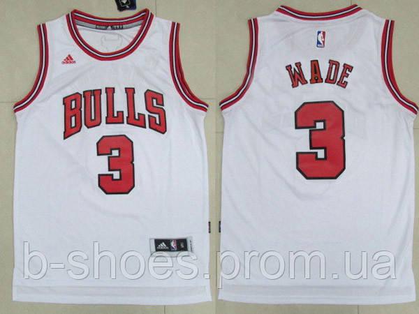 Мужская баскетбольная майка Chicago Bulls (Dwyane Wade) White