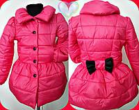 Красивая розовая детская курточка плащевка синтепон на подкладе