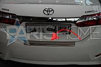 Накладка на задний бампер Toyota Corolla с 2013 г.в.